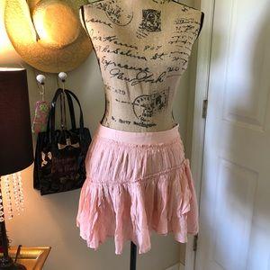 Paige ruffle mini skirt sz XS